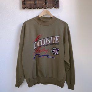 Vintage Exclusive | 1990 Olive Green Sweatshirt